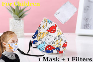 PM2.5 Cotton Adult Mouth Mask Anti Dust Mask Activated Carbon Filter Windproof Mouth-muffle Bacteria Proof Flu Face Masks