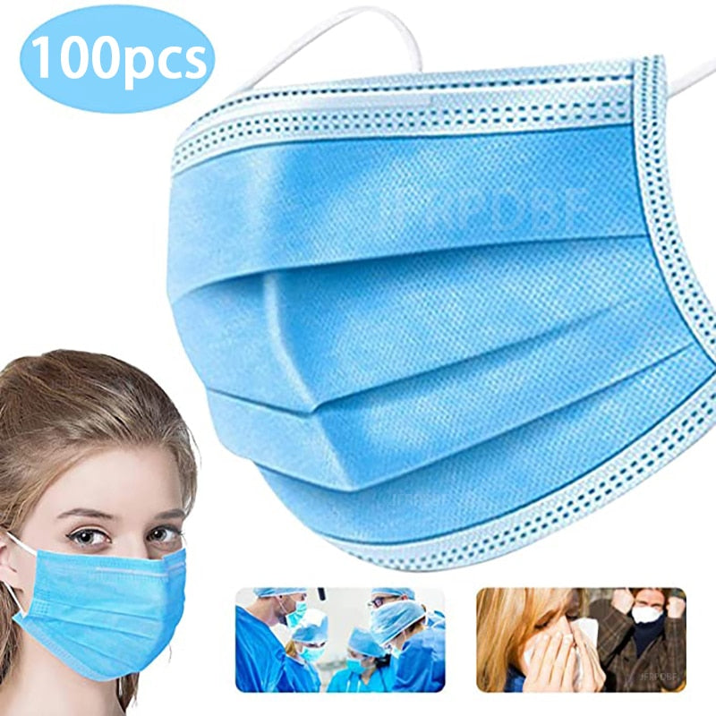Filter anti-pollution dust-proof mask anti-flu mask 3 layer disposable mask bacterial protection flu ear hanging anti-virus mask