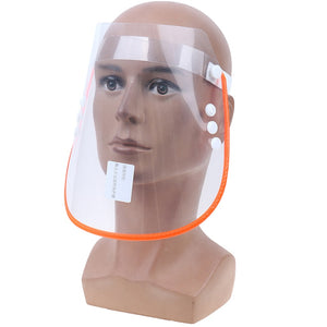 Adjustment Face Shield Safety Removable Anti-saliva Anti Droplet Dust-proof Full Face Protective Cover Mask