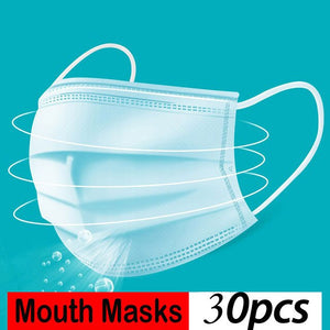 KN90 4-Ply Disposable Dustproof Face Mouth Masks Anti PM2.5 Anti Influenza Nonwoven Elastic Mouth Soft Breathable FFP2 Face Mask