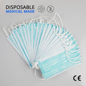 20 pcs/Bag Dust Mask 3 Layer Non-woven Protective Face Mask Thickened Disposable Mouth Mask