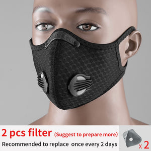 ROCKBROS Cycling Face Mask Filter PM2.5 Anit-fog Breathable Dustproof Bicycle Respirator Sport Protection Dust Mask Anti-droplet