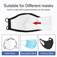 Load image into Gallery viewer, 100 /10 pcs PM 2.5 Mask Filter Anti Haze 5 Layers N95 Mask Activated Carbon Filter Replaceable For Adults Mouth Mask Health Care