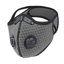 Load image into Gallery viewer, Sport Dust Masks 5 ply PM2.5 Activated Carbon Filter Double breathing valve Mesh Masks KN95 same as N95