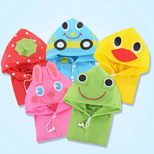 Load image into Gallery viewer, 1pcs Cartoon Animal Style Waterproof Kids Raincoat For children Rain Coat Rainwear Rainsuit Student Animal Style Raincoat