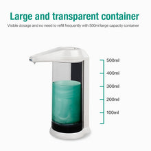 Load image into Gallery viewer, Hand Free 500ml Automatic Soap Dispenser Touchless Sanitizer Dispenser Smart Sensor Liquid Soap Dispenser for Kitchen Bathroom