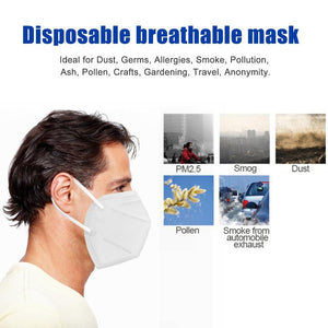 50Pcs Face Mask N95 Anti Influenza Anti-fog Mouth Masks Kn95 95% Same Protective as KF94 FFP2 DHL Free Shipping