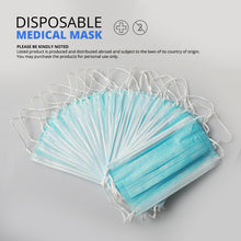 Load image into Gallery viewer, 20 pcs/Bag 3 Layer Non-woven Dust Face Mask Thickened Disposable Mouth Mask Dust Filter Safety Mask