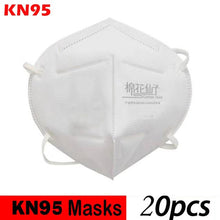 Load image into Gallery viewer, KN95 4-Ply Solid Color Disposable Dustproof FFP2 Face Mouth Masks Anti Influenza PM 2.5 Breathing Safety Masks Face CareElastic