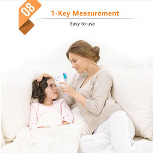 Forehead Non Contact Baby Thermometer Infrared LCD Body Temperature Fever Digital IR Measurement Tool Gun for Baby Adult