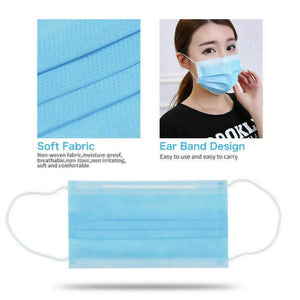 Fast Deliver 100PCS Disposable 3 Layer Face Masks Medical Masks Medical Earloop Mouth Masks For Anti-PM2.5