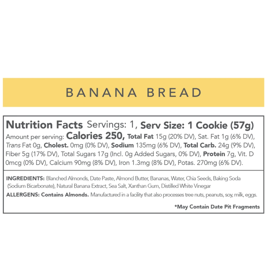 Love + Chew Banana Bread Cookie (12 Pack)