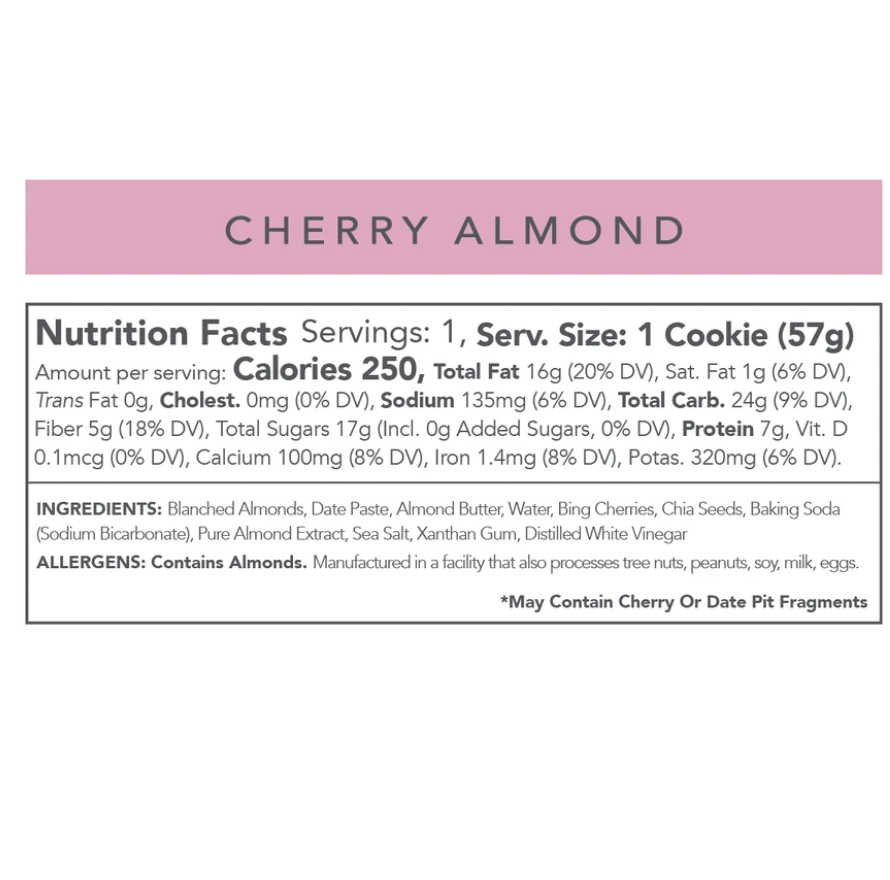 Love + Chew Cherry Almond Cookie (12 Pack)