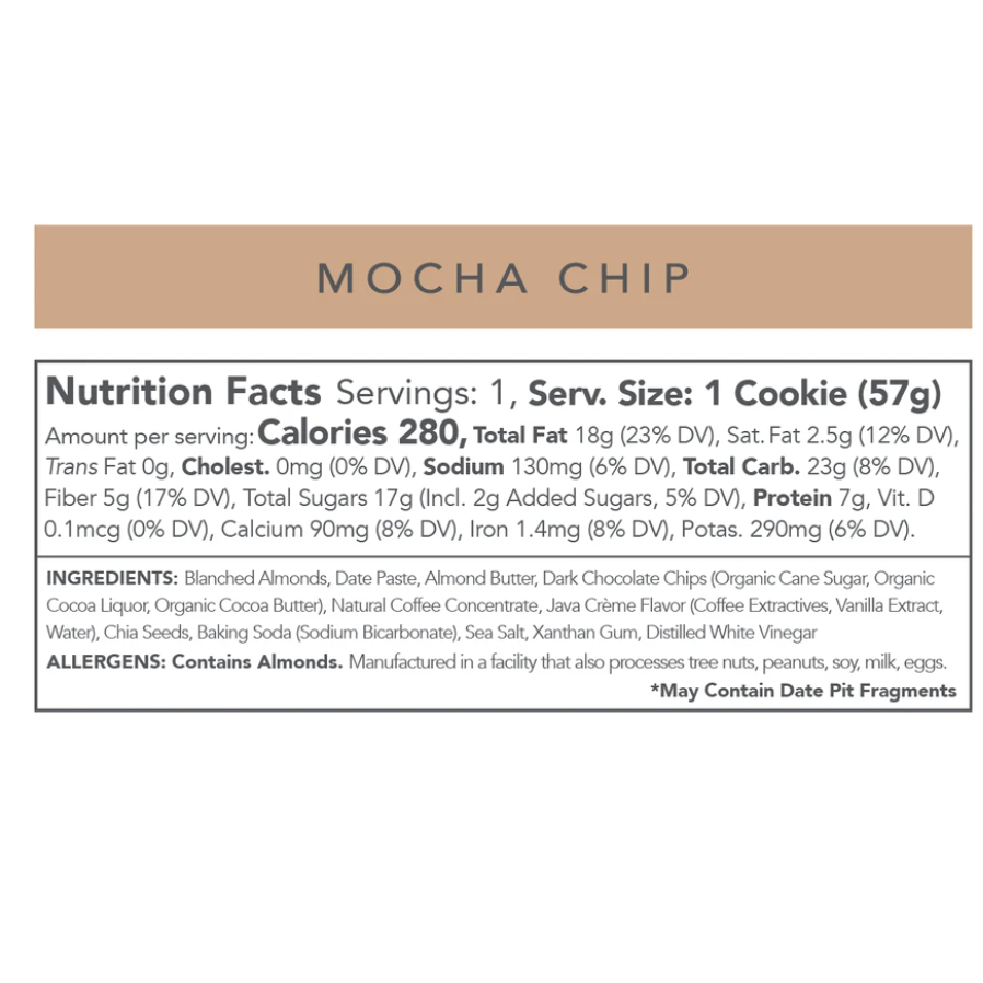 Love + Chew Mocha Chip Cookie (12 Pack)