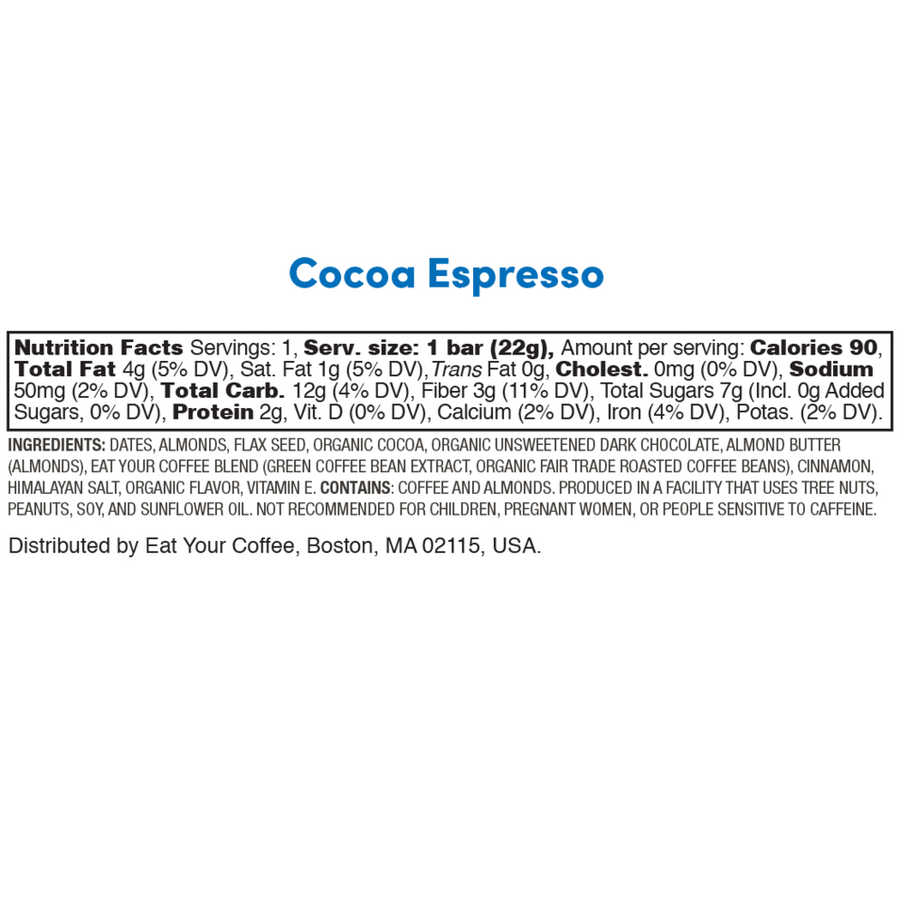 Eat Your Coffee Snack Bite in Cocoa Espresso