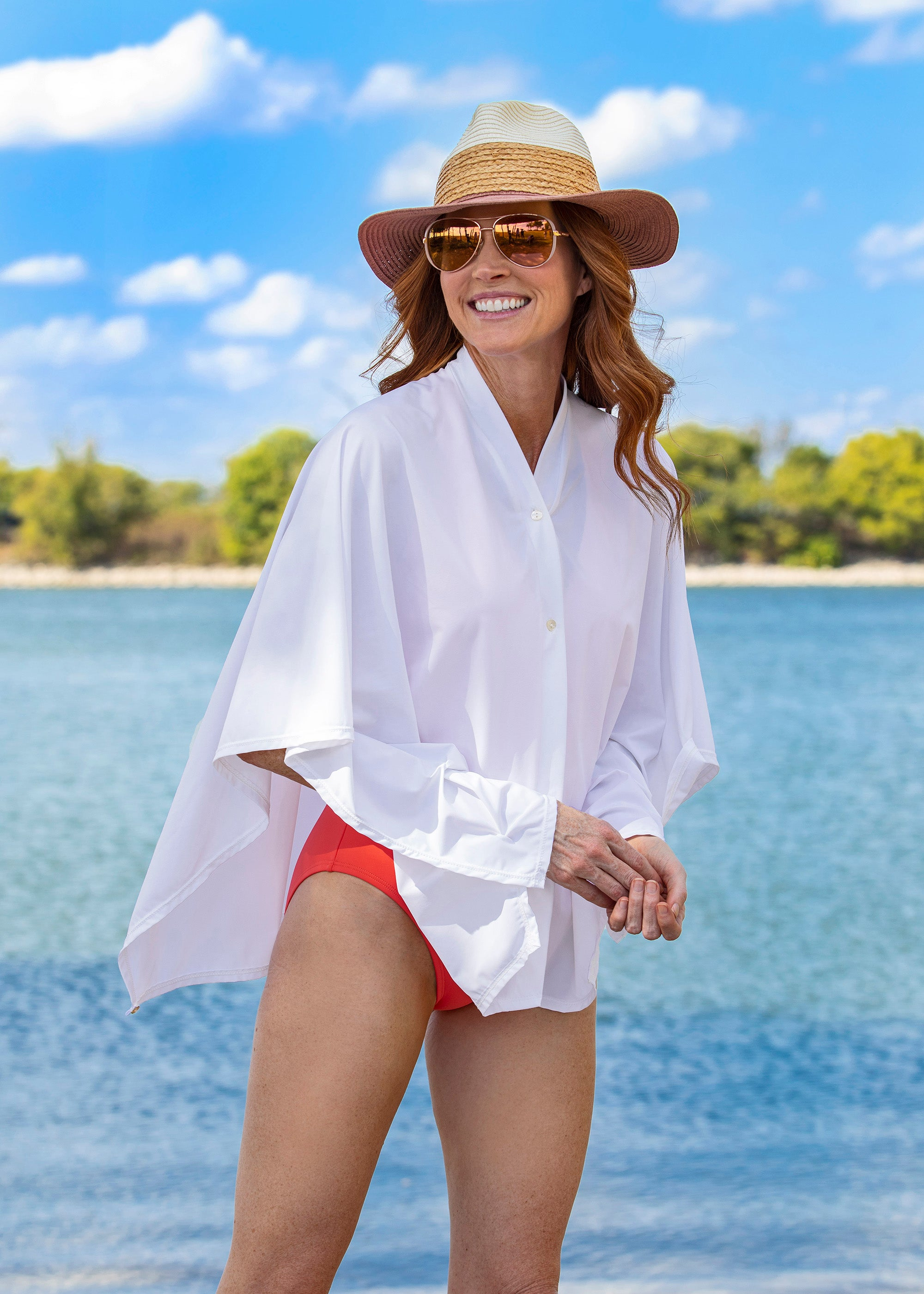 Long sleeve sun protection cover up by solwearMD