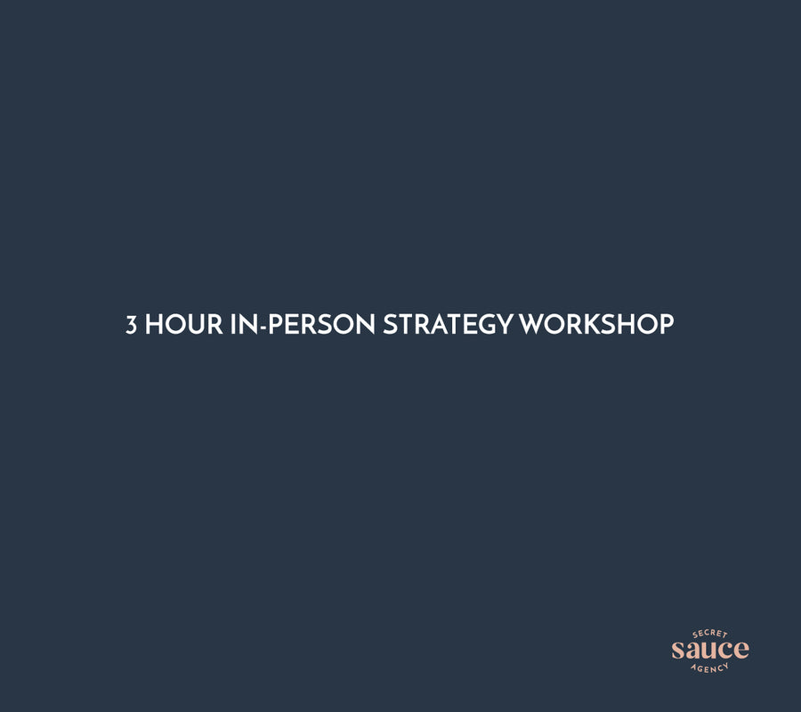 3 hour Strategy Workshop