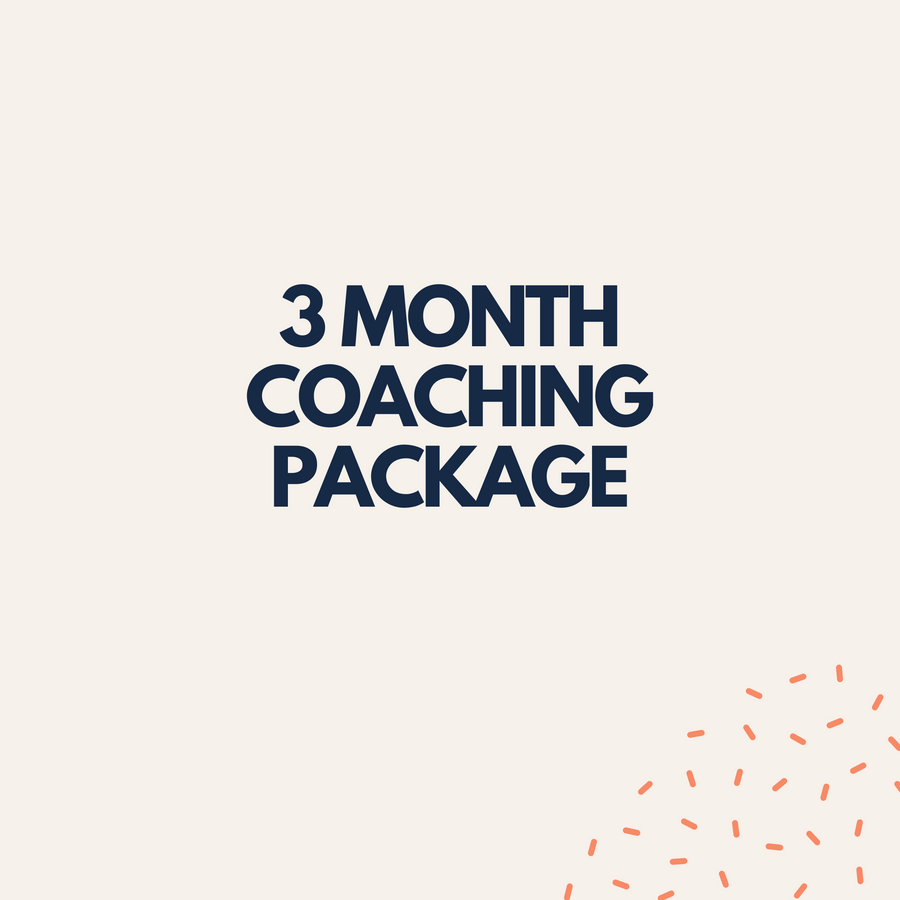 3 Month Coaching Package Final Payment