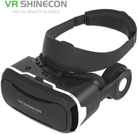 Shinecon VR 4.0 Headset Virtual Reality Headset,VR Glasses,VR Goggles -Compatible for Apple Iphone, Samsung, Google, Android Smartphone with Headphones & Adjustable Eye Care System