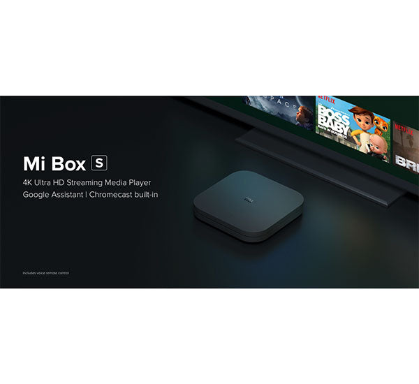 Mi Box S with 4K HDR Android TV 8.1 Global Version MDZ-22-AB