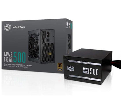 Cooler Master MPX-5001-ACAAB-US MWE Bronze 500 Watt 80 Plus Certified Power Supply