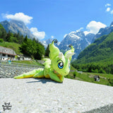 manu the dragon in the slovenian mountains by dragonsgarden travelling plush