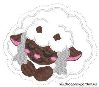 FREE Wooloo Keychain/Patch (Embroidery File 4x4) - Dragons' Garden