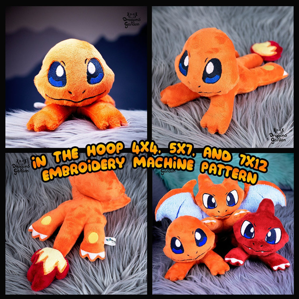 ITH Charmander Plushie Pattern - Dragons' Garden