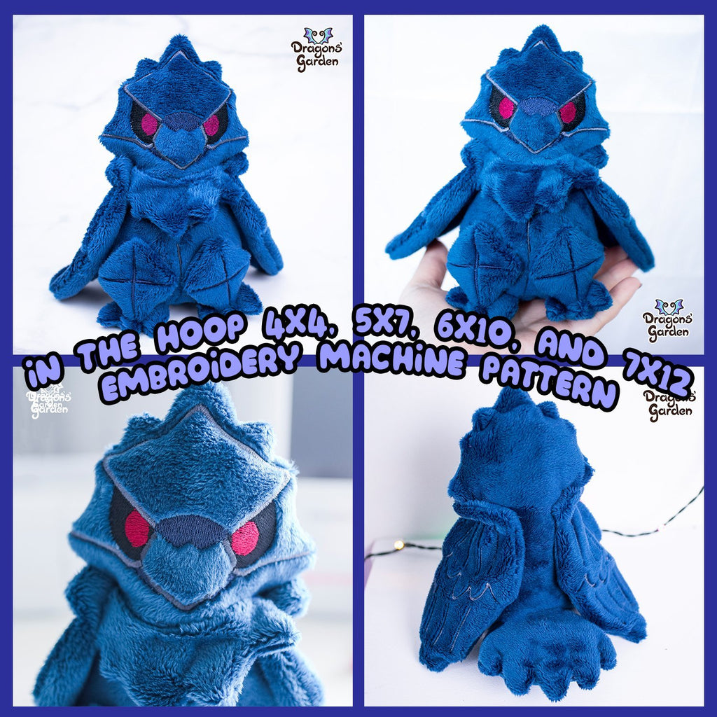 ITH Corviknight Plush Embroidery Pattern - Dragons' Garden