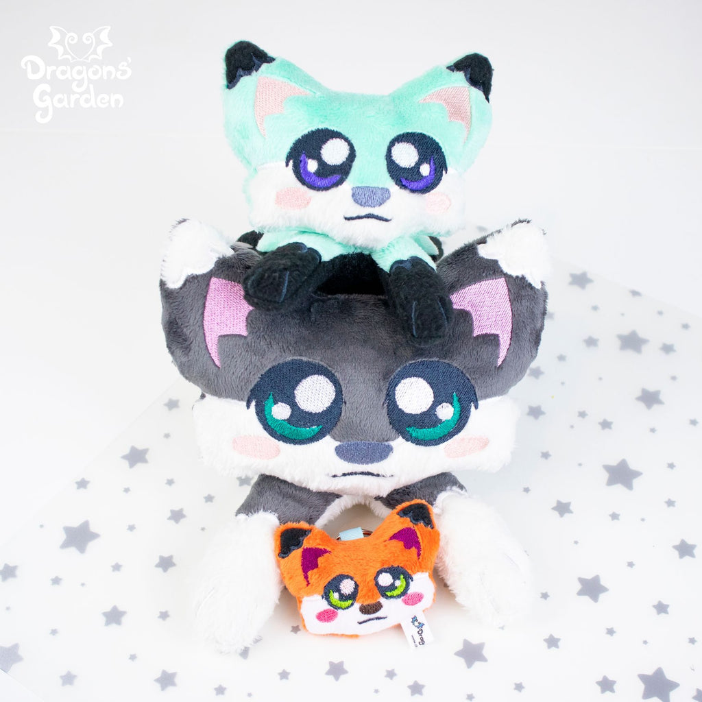 ITH Cute Fox Plushie Embroidery Pattern - Dragons' Garden
