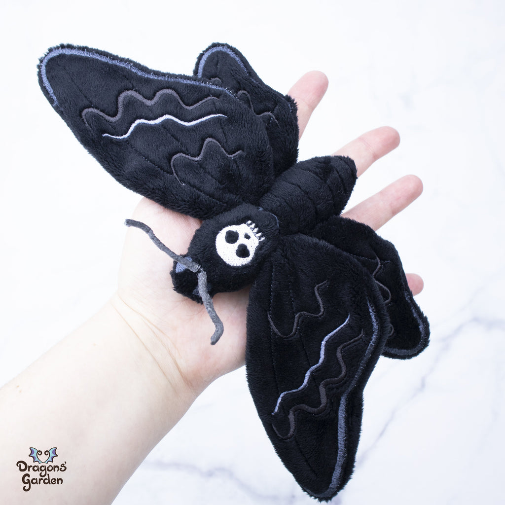 ITH Death Moth Plushie Embroidery Pattern - Dragons' Garden
