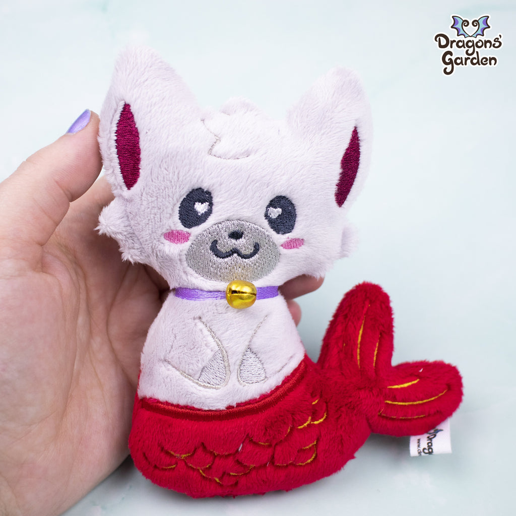 ITH Mermaid Kitty Plushie Embroidery Pattern - Dragons' Garden