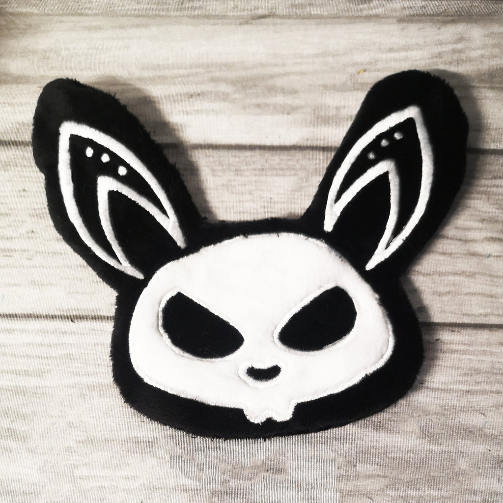 ITH Skeleton Bunny Plushie Embroidery Pattern - Dragons' Garden
