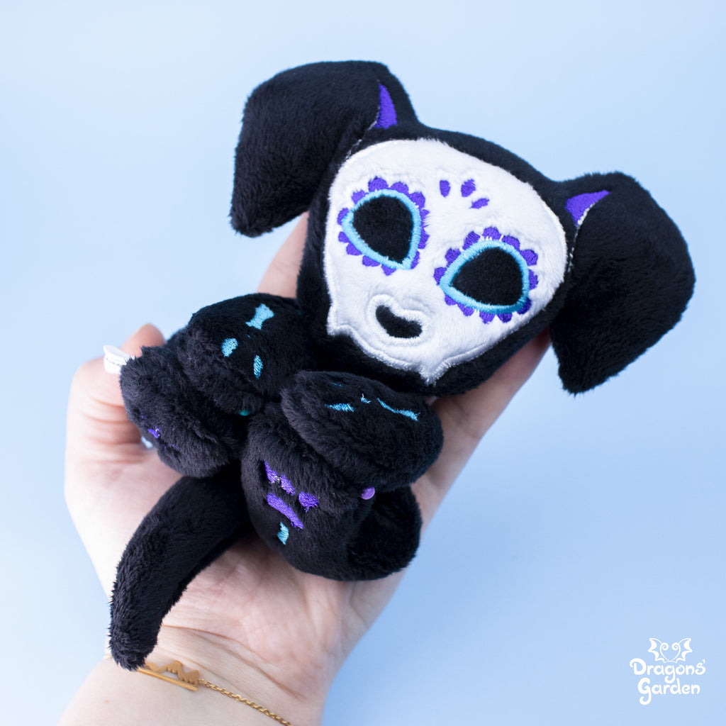 ITH Sugar Skull Puppy Plushie Embroidery Pattern - Dragons' Garden