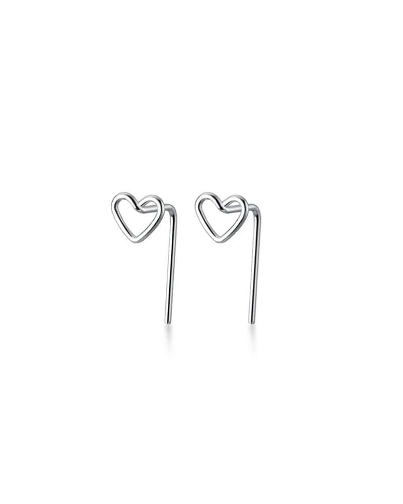 Backless Heart Studs