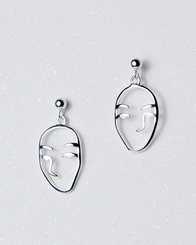 Shop sukoshi Abstract Face Dangle Earrings, full face style, sterling jewelry collection