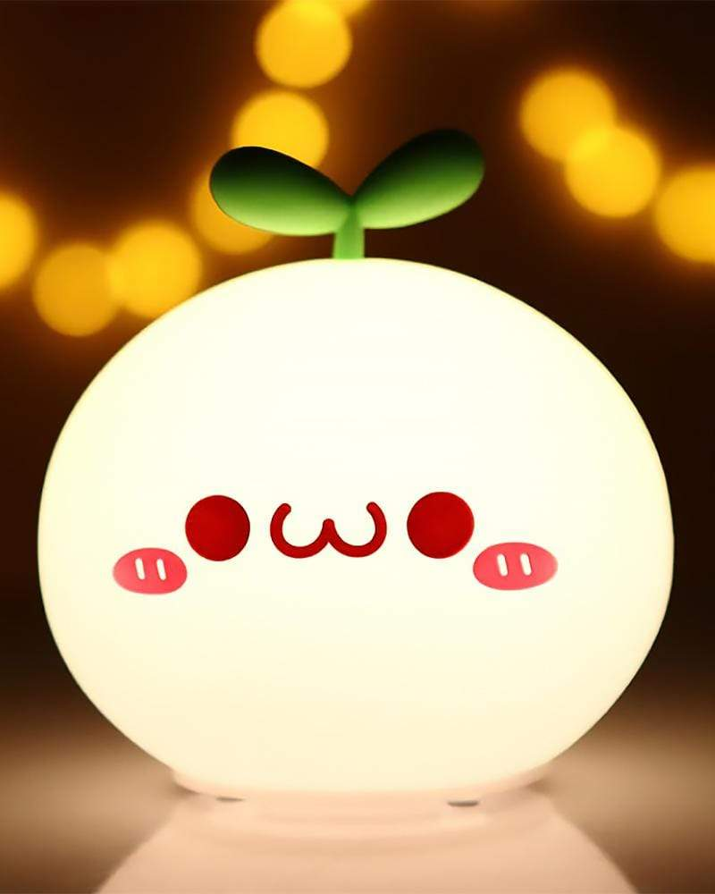 Budding Pop Night Light smile with mouth closed light