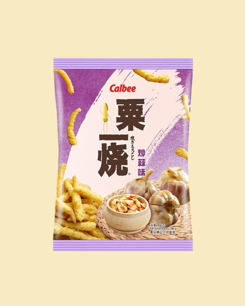 Calbee Grill-A-Corn Fried Garlic Flavour Chips