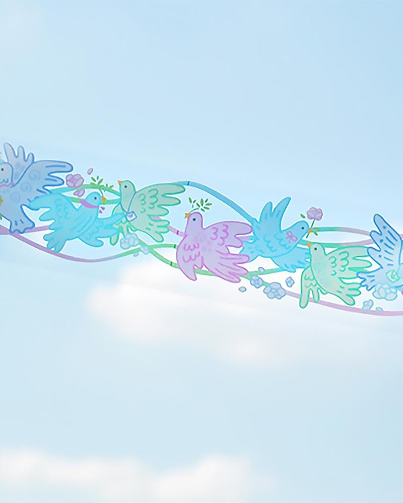 Cardlover Flower Street Clear PET Tape in Colourful Dove