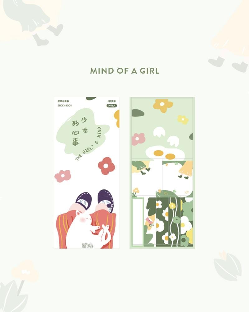cardlover kokoro sticky book pack design display of the 'mind of a girl' style
