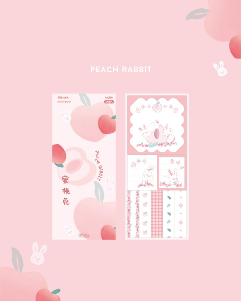 cardlover kokoro sticky book pack design display of the 'peach rabbit' style