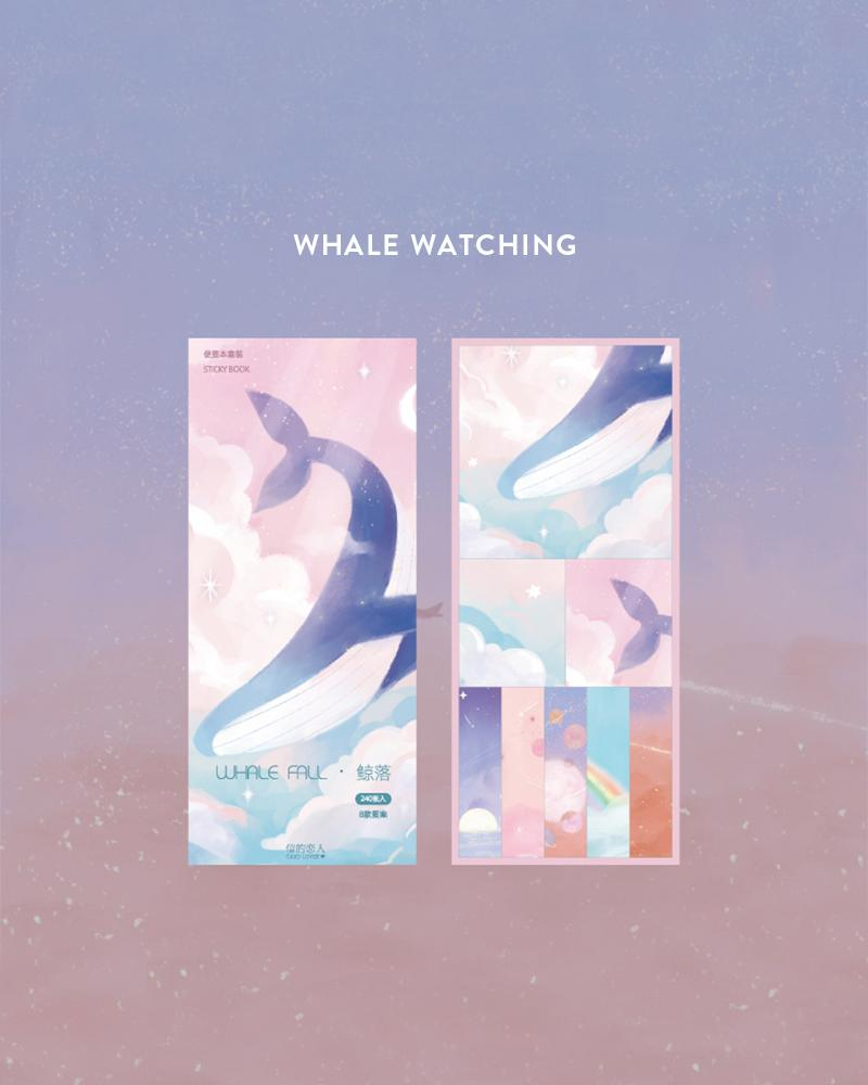 cardlover kokoro sticky book pack design display of the 'whale watching' style