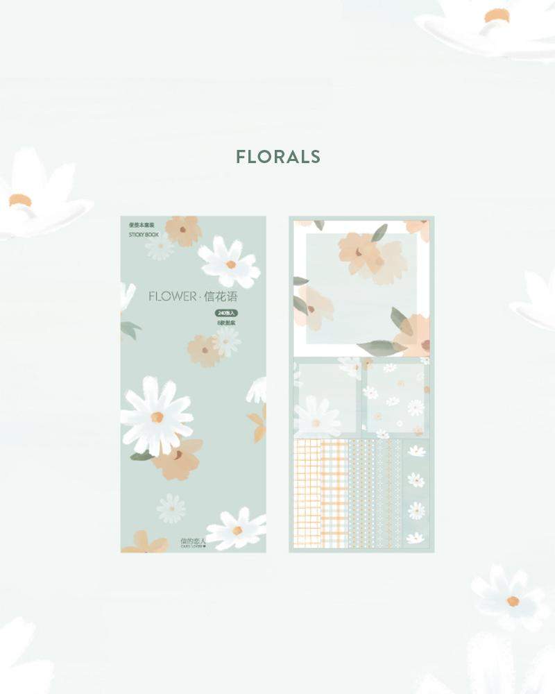 cardlover kokoro sticky book pack design display of the 'florals' style