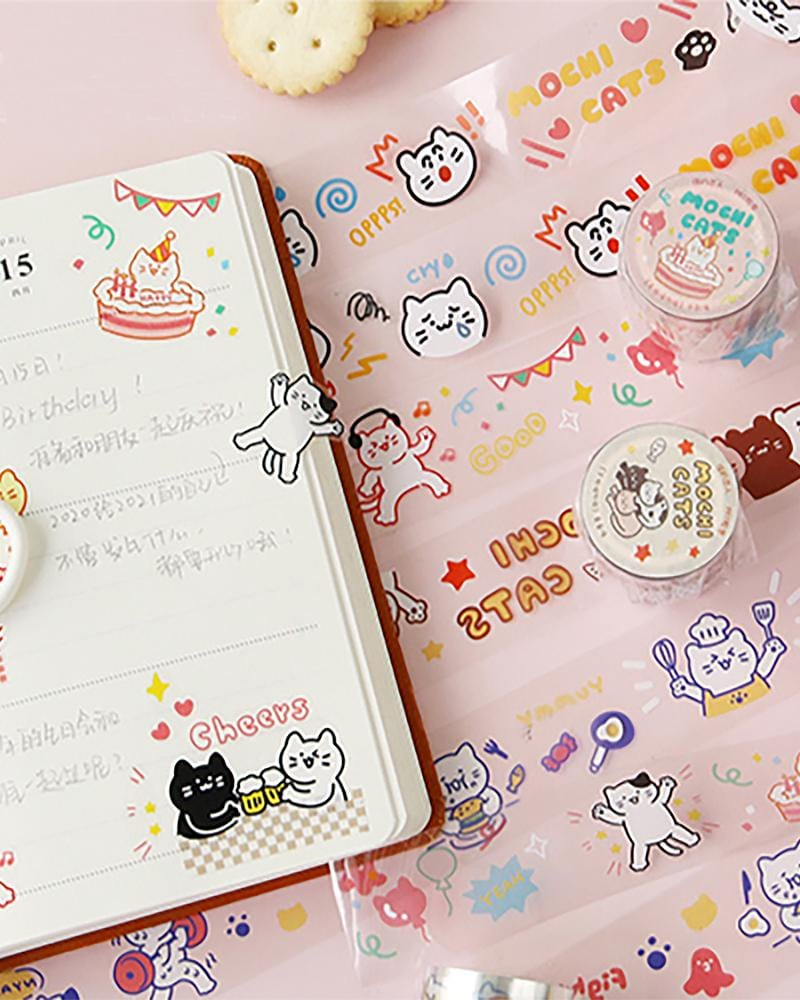 Cardlover Mochi Cats PET Tape