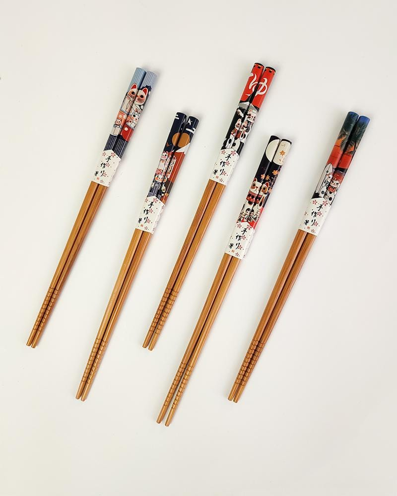 Japanese Maneki Neko Cat Chopsticks