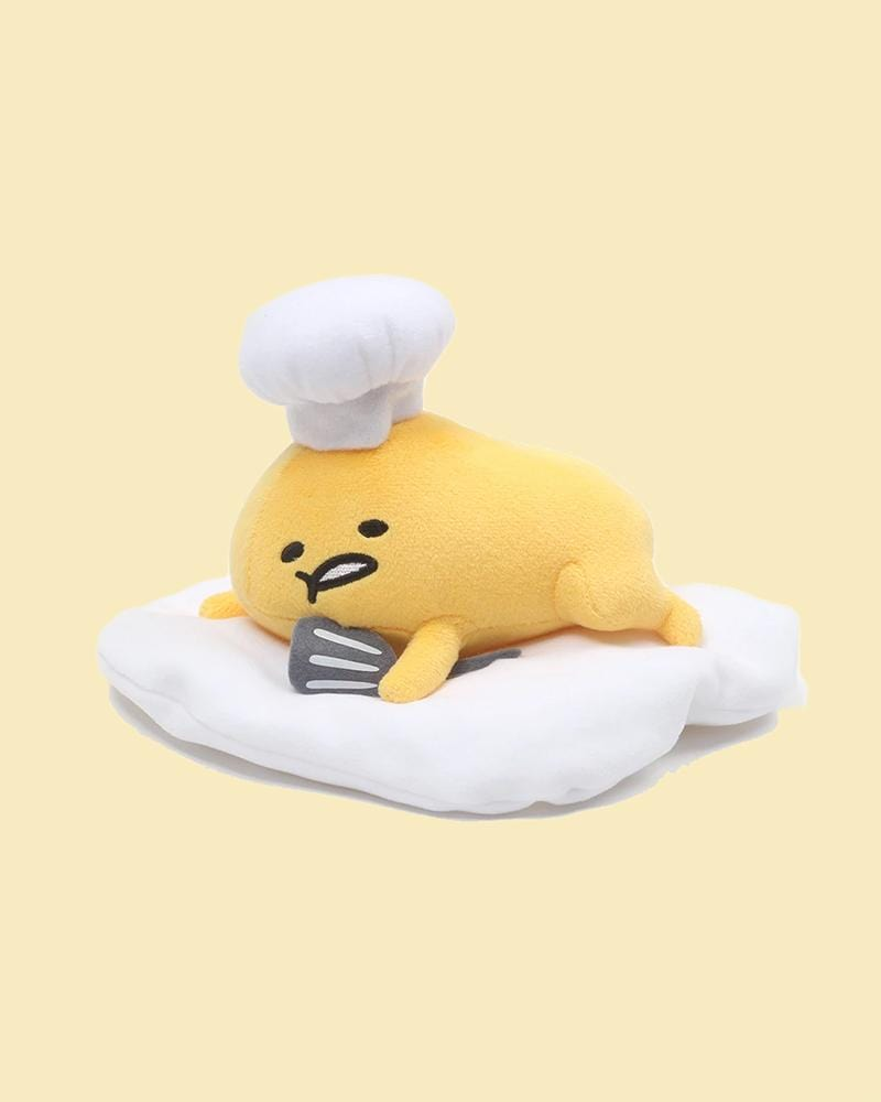 GUDETAMA© Laying Down Chef with Spatula Plush 8""
