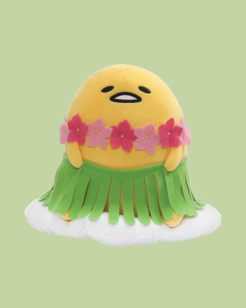 GUDETAMA© Plushie with Hula Skirt 9""