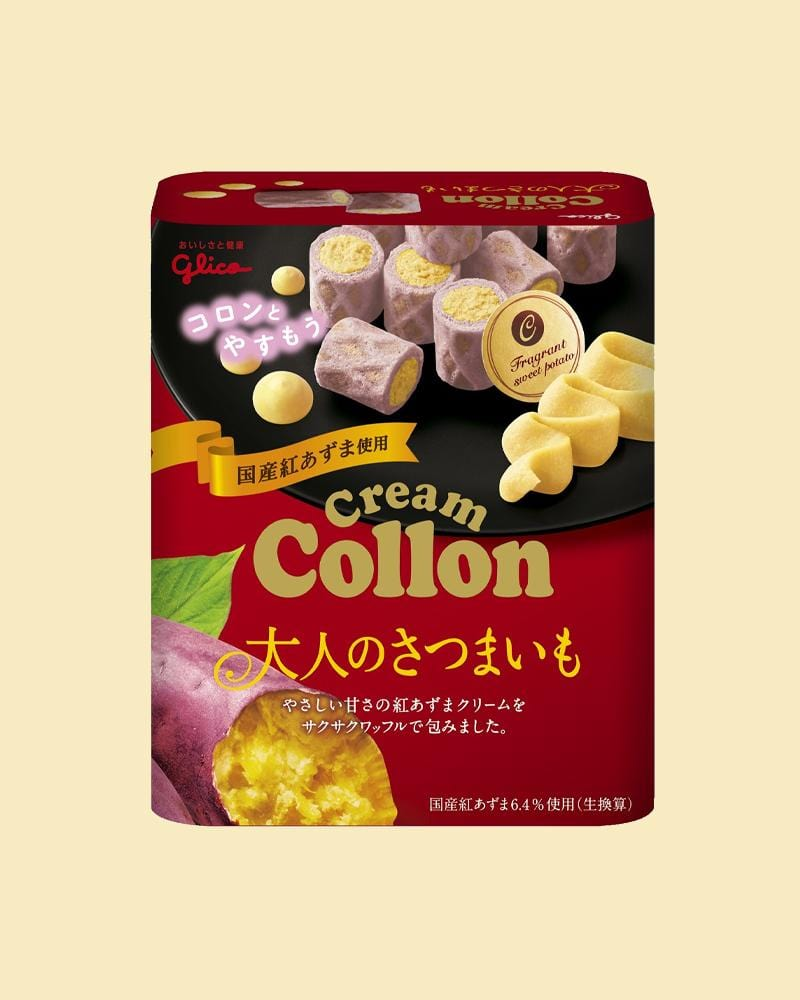 Glico Sweet Potato Collon Cream Biscuits