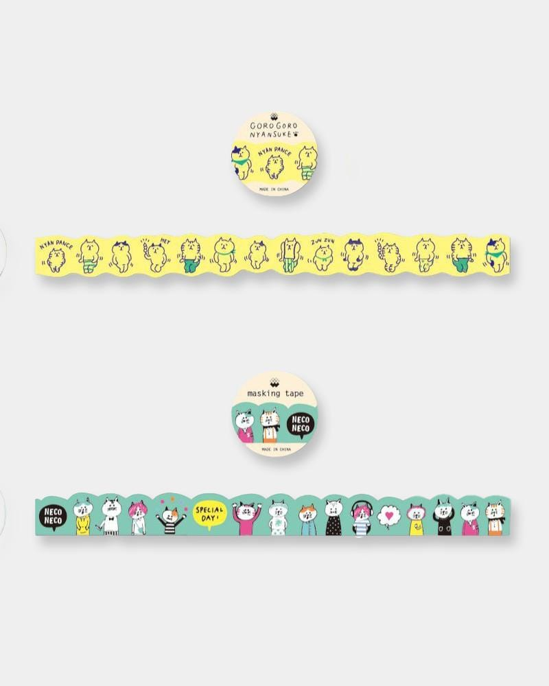 Shop Gorogoro nyansuke washi tape, nyan dance and neco's special day