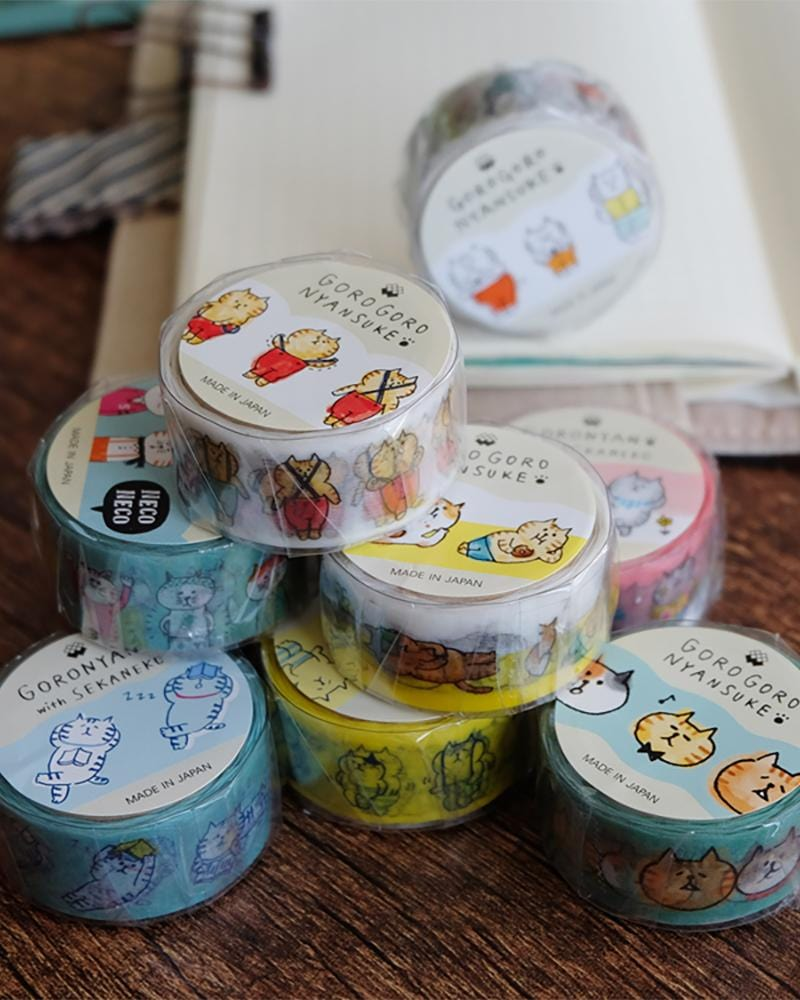 Shop Gorogoro nyansuke washi tape group photo